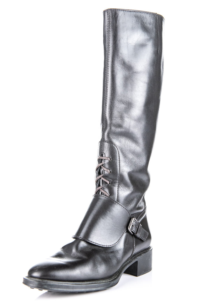 ed7e4fb8bcc2 ... Tod's brown leather knee high boots Size 7.5 | EU 37.5 - OWN THE  COUTURE ...
