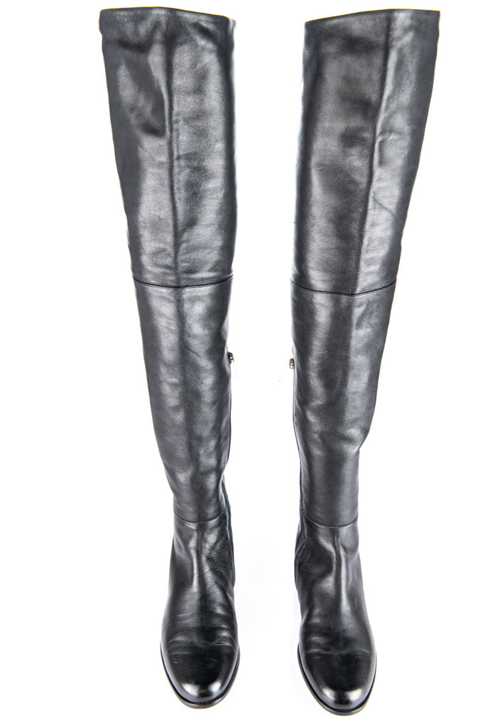 Jimmy Choo black leather over the knee Edna boots New Size 9 |  EU 39 - OWN THE COUTURE