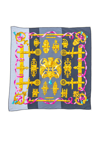 Hermès Multicolor Galop Chromatique Silk Scarf