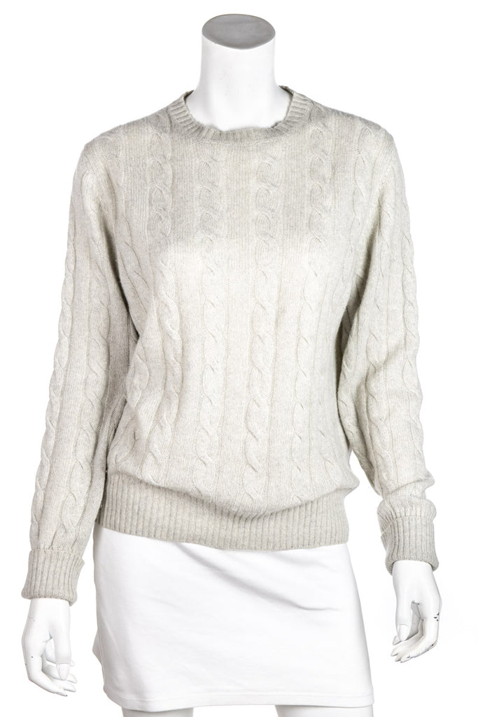 Loro Piana beige cashmere cable knit sweater Size XL | IT 48 - OWN THE COUTURE