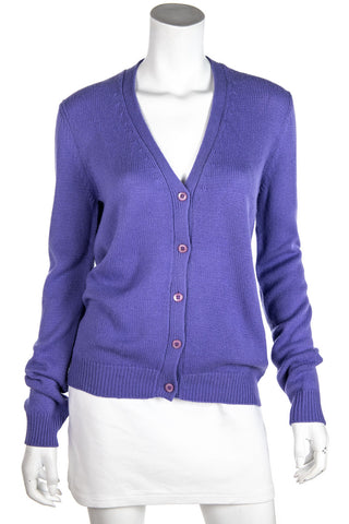 Loro Piana blue cable knit cardigan XL | IT 48