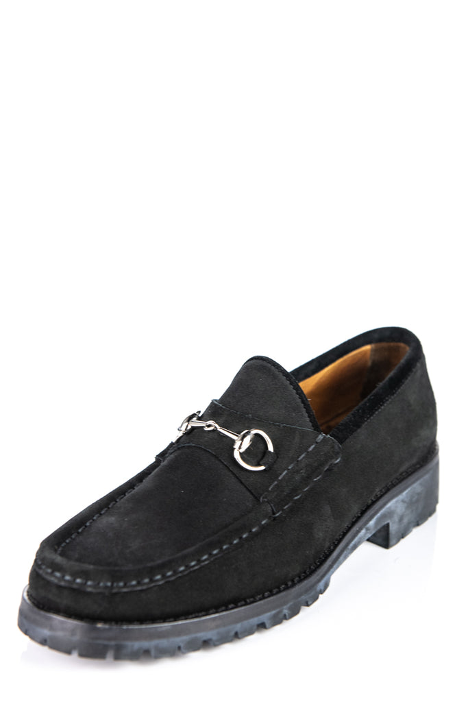 503ed6c70cb ... Gucci black suede horesebit loafers Size 9 - OWN THE COUTURE ...