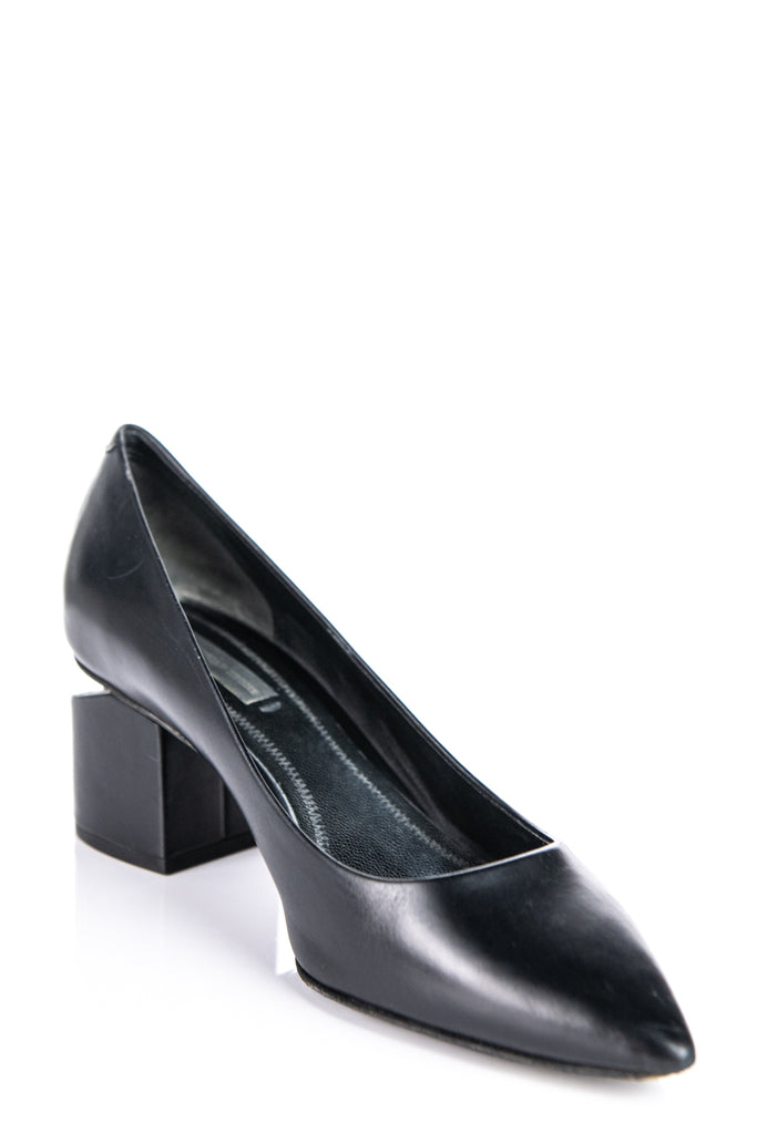 Alexander Wang Black Simona Pointed Toe Pumps Size 8 | IT 38 - OWN THE COUTURE