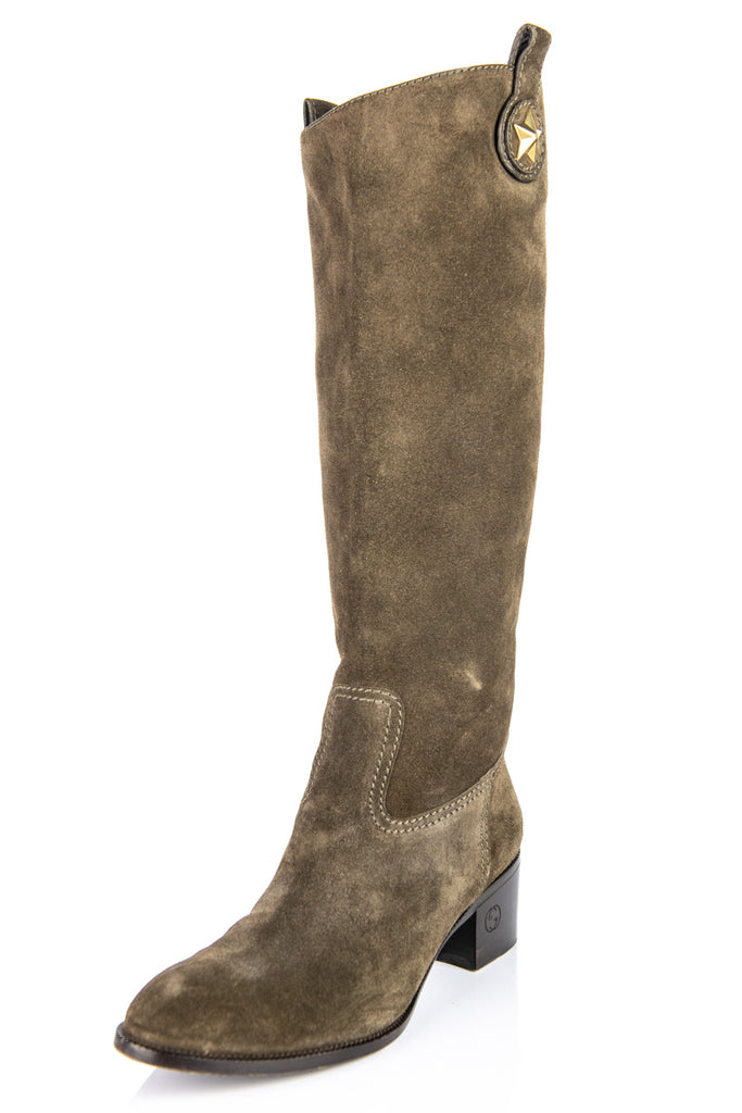 388b1fe9d ... Gucci Brown Suede Knee High Boots Size 8.5 | IT 38.5 - OWN THE COUTURE  ...