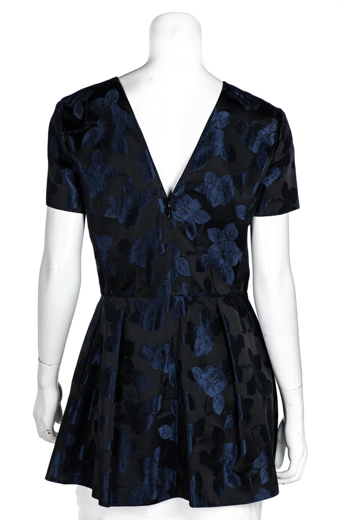 Christian Dior navy floral damask mini dress L | FR 42 - OWN THE COUTURE