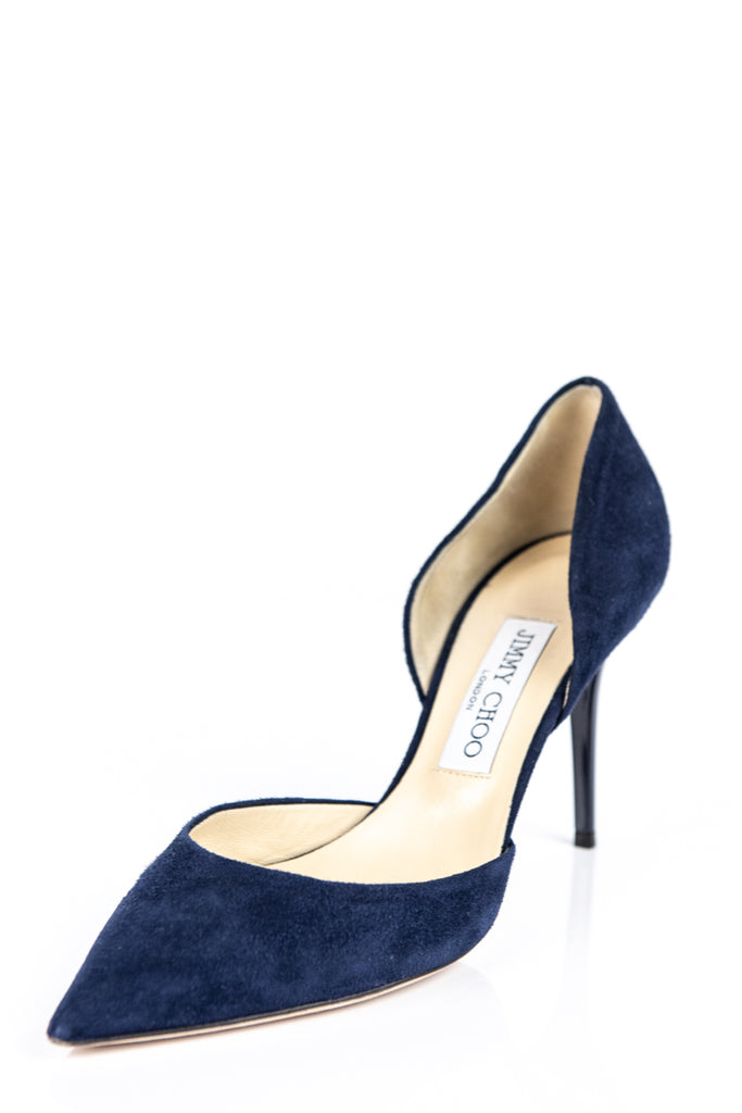 046c95bbdb9f ... Jimmy Choo blue suede Addison d Orsay pumps Size 8