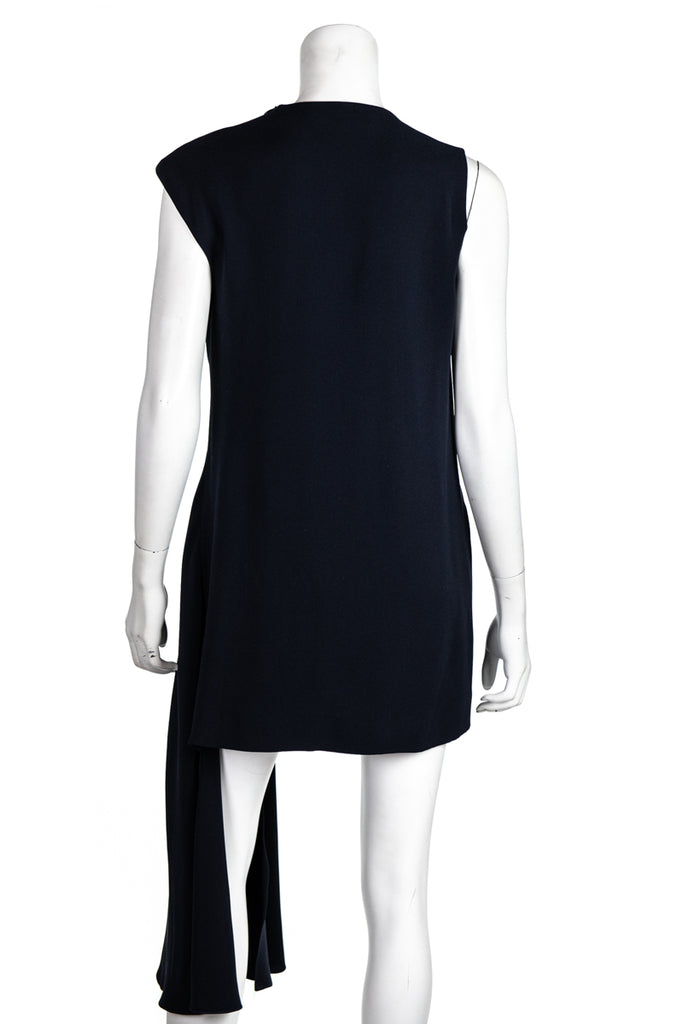 Christian Dior navy asymmetric mini dress Size M | FR 40 [20% OFF] - OWN THE COUTURE