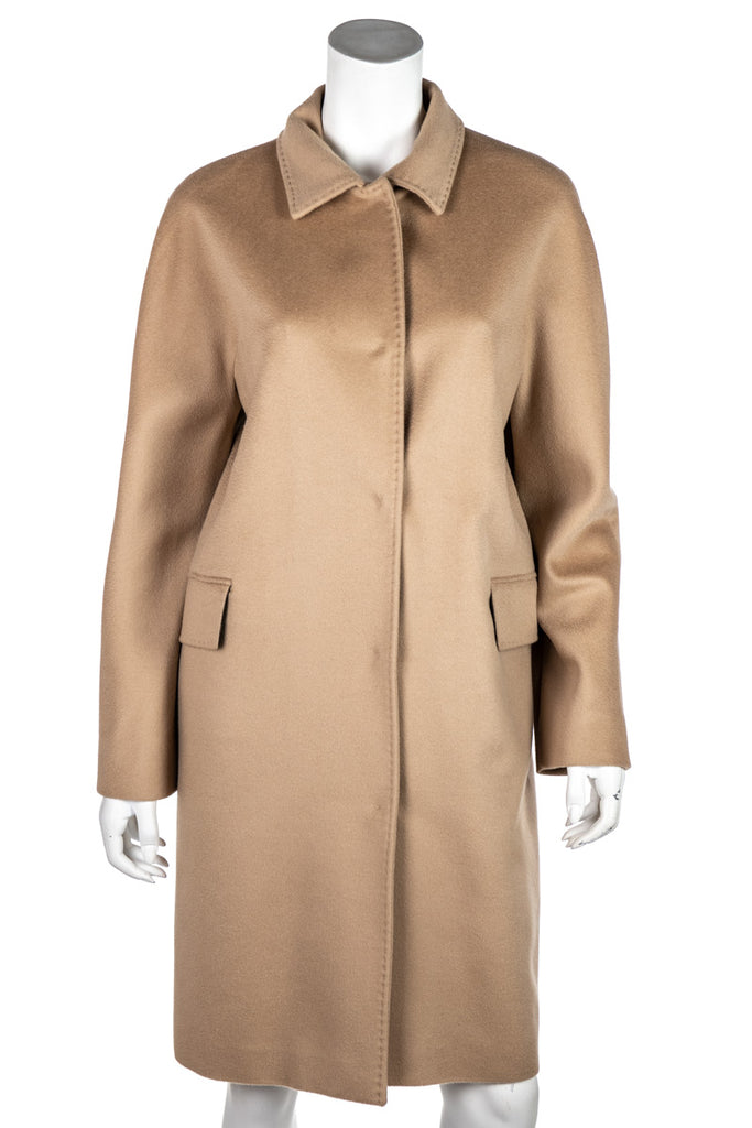 Les Copains Beige Wool And Cashmere Coat XL | FR 44 - OWN THE COUTURE
