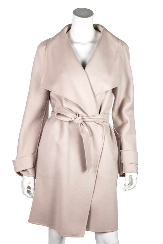 Max Mara Beige Wool & Angora Belted Coat Size XL | DE 42 - OWN THE COUTURE