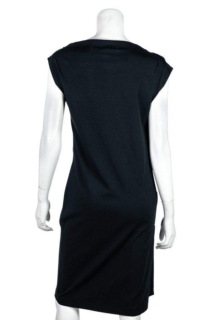 Brunello Cucinelli black cotton stretch dress New w/ tags  Size M - OWN THE COUTURE