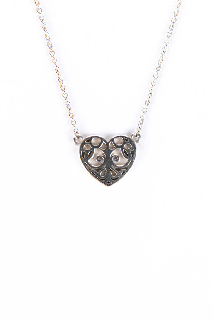 Tiffany & co. sterling silver Enchant heart pendant necklace - OWN THE COUTURE