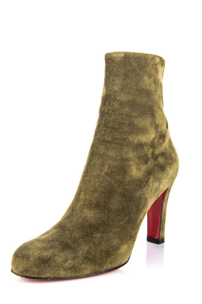 new arrival 76d4f fb9f3 Christian Louboutin Khaki Suede Ankle Boots Size 8. 5 | EU 38.5