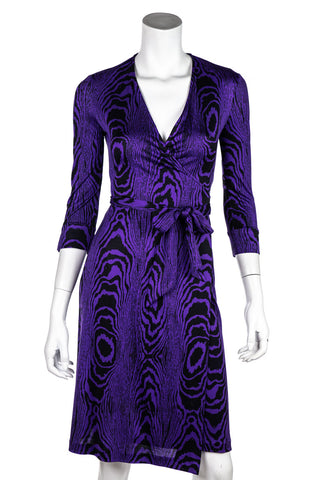 9b51783fee16 Diane Von Furstenberg Purple and Black Julian Wrap Dress Size XXS | US 2.  $150.00. Diane von Furstenberg Camille ruched mesh ...
