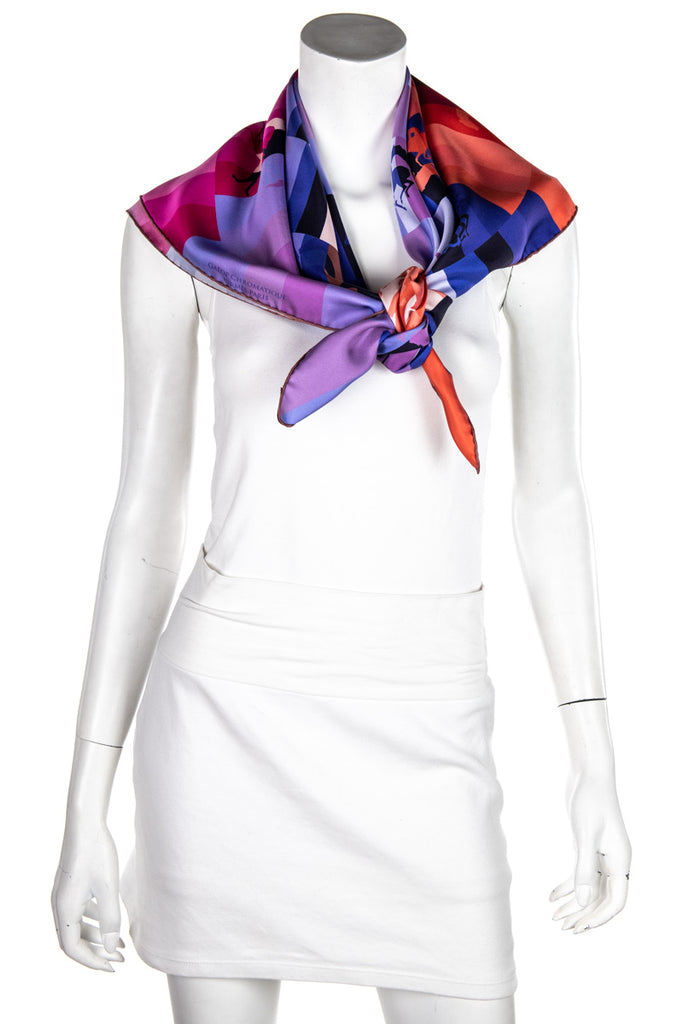 Hermès Multicolor Galop Chromatique Silk Scarf - OWN THE COUTURE