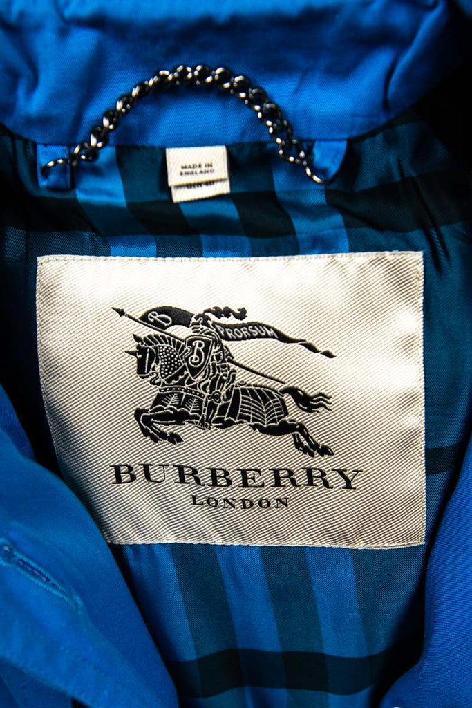 Burberry London Turquoise Cotton Trench Coat Size M | UK 12 [20% OFF] - OWN THE COUTURE