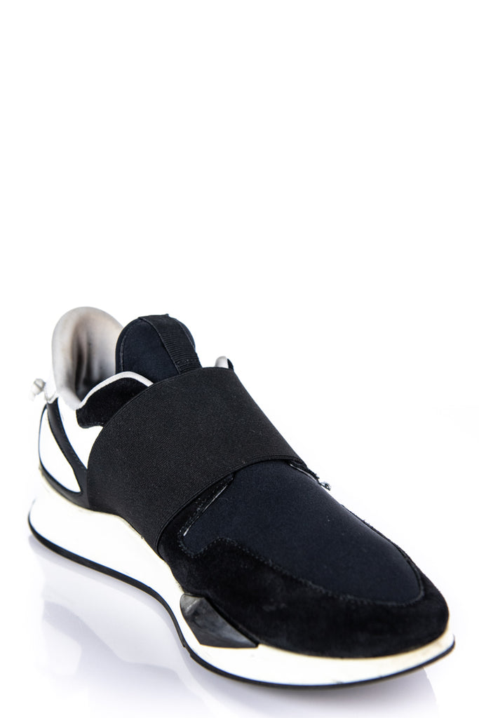 Givenchy 2018 Black and White Neoprene Runner Elastique Sneakers Size 8 | IT 38 - OWN THE COUTURE