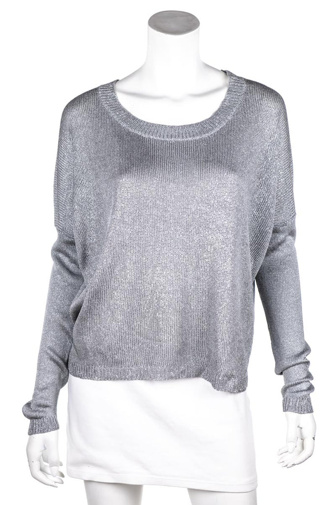Vince Metallic Knit Boat Neck Sweater S [20% OFF] - OWN THE COUTURE