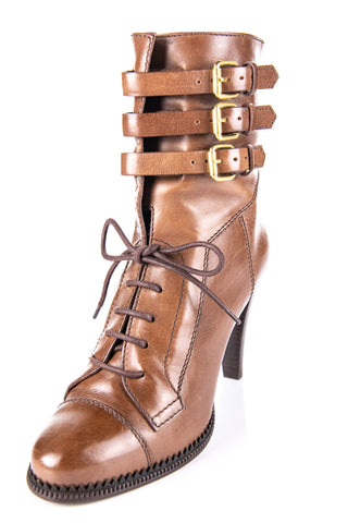 493c4f5bc91 Burberry Brown Riddle Lace-Up Ankle Boots Size 8