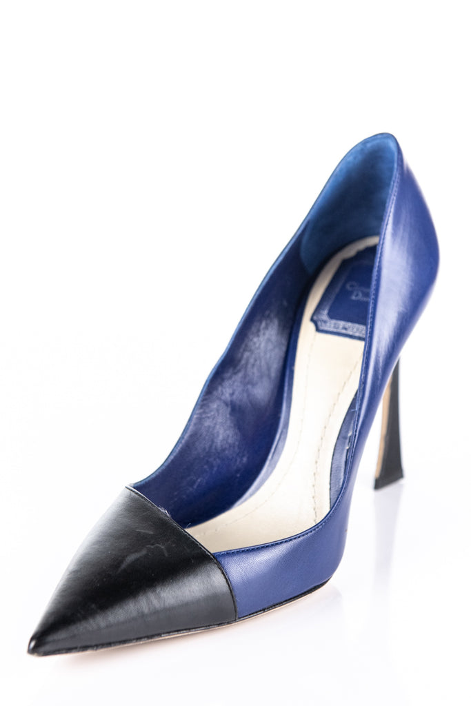 b981b31fe ... Christian Dior Navy and Black Songe Pumps Size 8.5 | EU 38.5 - OWN THE  COUTURE ...