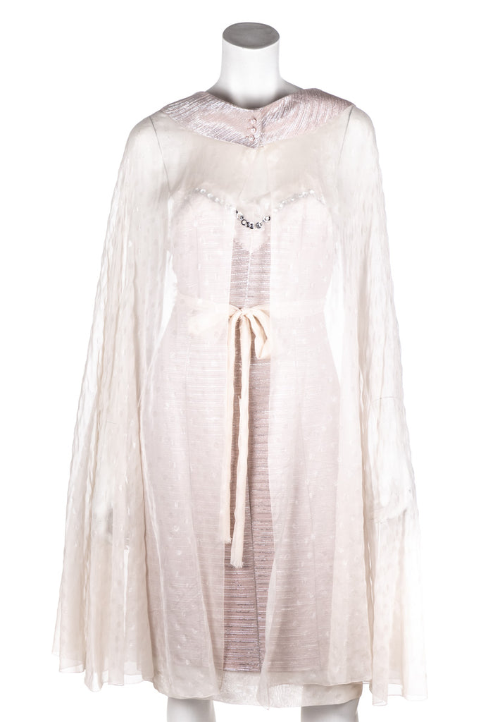 Chanel Pink Tweed and Chiffon Spring 2005 Dress Size M | FR40 - OWN THE COUTURE