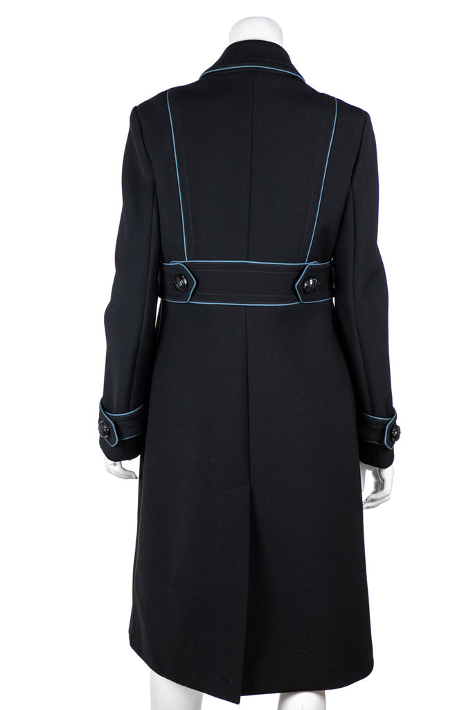 Gucci Black and Blue Trimmed Military Coat Size M | IT 44 [20% OFF] - OWN THE COUTURE
