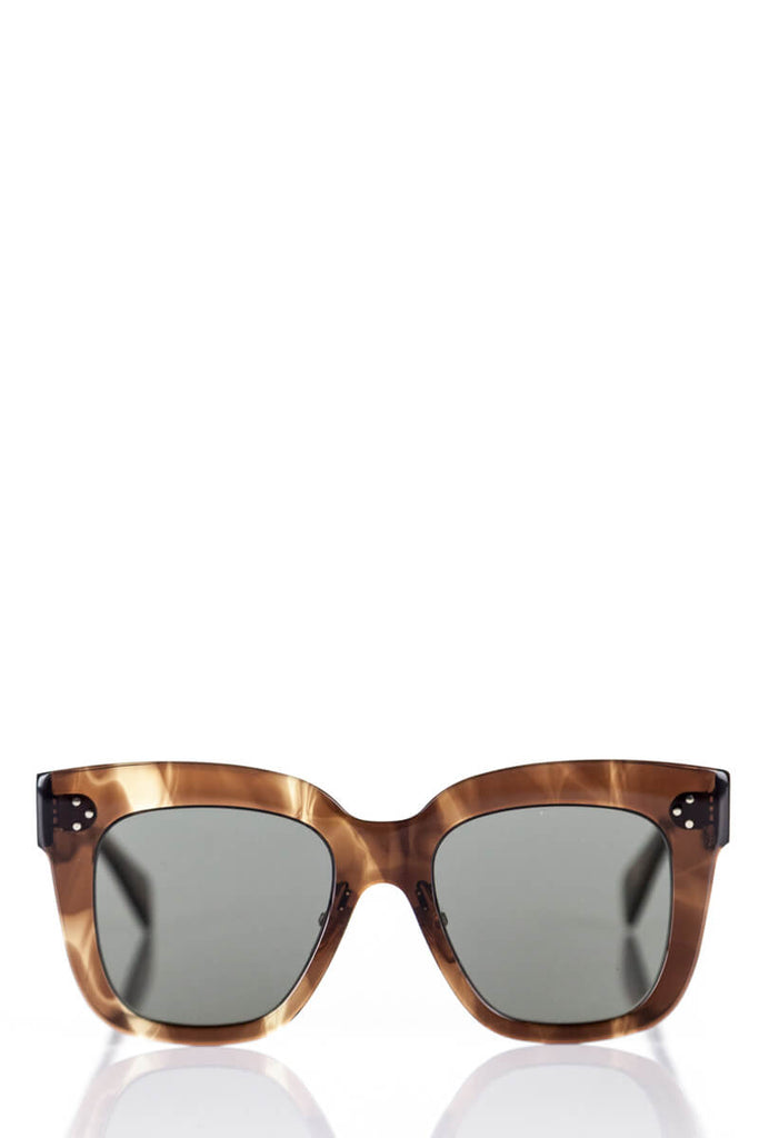 Celine Havana Brown Kim Square Sunglasses 41444/S - OWN THE COUTURE