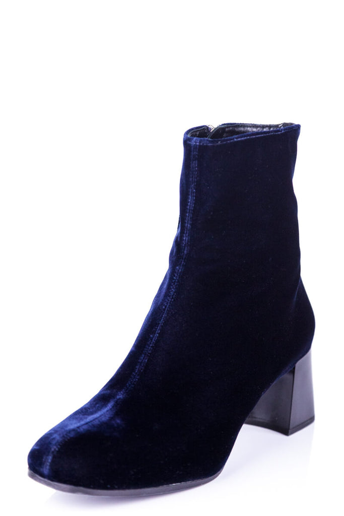 Jil Sander Blue Velvet Ankle Boot Size 6 | EU 36 [20% OFF] - OWN THE COUTURE