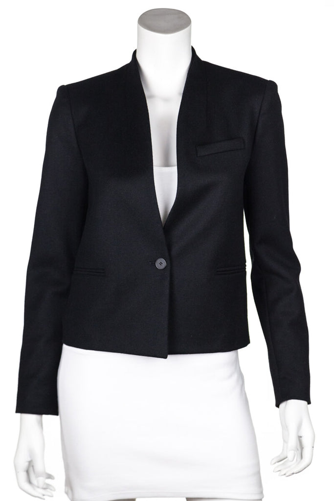 Etoile Isabel Marant Black Wool Collarless Blazer XXS | FR 34 [20% OFF] - OWN THE COUTURE