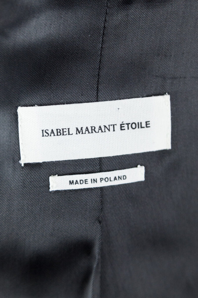 Etoile Isabel Marant Black Wool Collarless Blazer XXS | FR 34 - OWN THE COUTURE