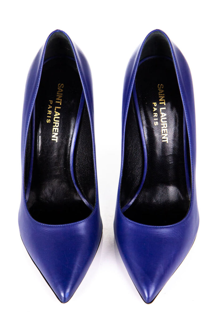 Yves Saint Laurent blue Paris pointed toe pumps Size 6 | EU 36 - OWN THE COUTURE