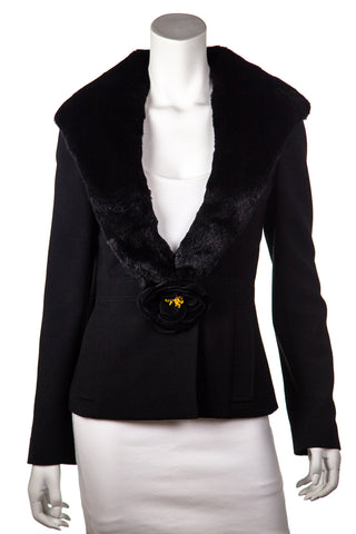 Dolce & Gabbana black velvet backed blazer Size XXS | IT 36 [20% OFF]