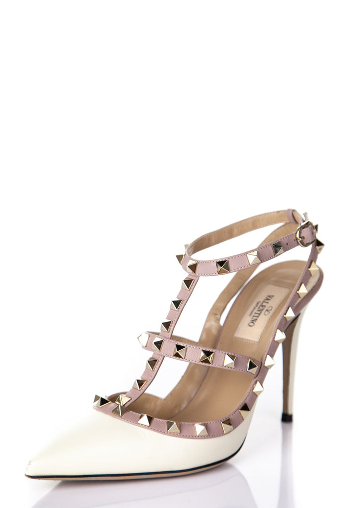278a9434c1 ... Valentino ivory rockstud T-bar pumps Size 8.5 | EU 38.5 - OWN THE  COUTURE ...