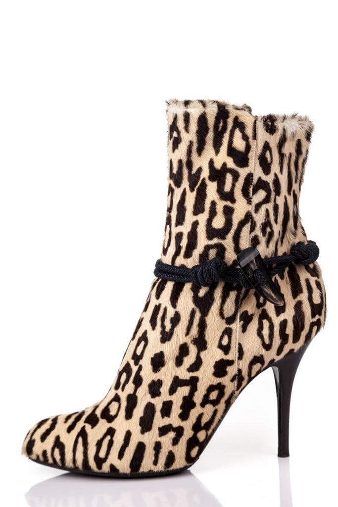 Sergio Rossi Brown Animal Print Pony Hair Boots Size 11 | EU 41 - OWN THE COUTURE