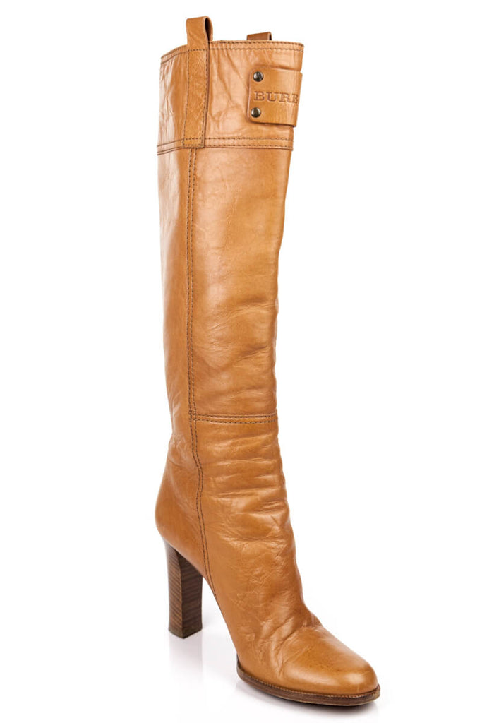 Burberry Tan Leather Knee-High Boots Size 6.5 | EU 36.5 - OWN THE COUTURE