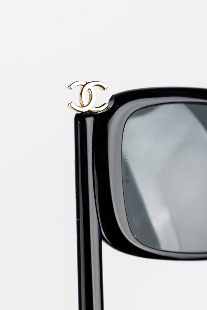 Chanel Black Masquerade Stick Sunglasses - OWN THE COUTURE