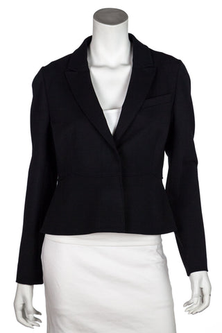 bf70aa7bab Valentino Black Cropped Blazer Size L   US 10. $225.00. Barbara Bui quilted  leather moto jacket Size M   FR 40 ...