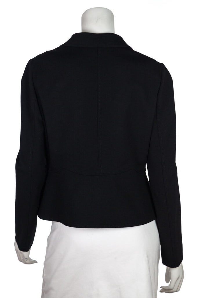 Valentino Black Cropped Blazer Size L | US 10 [20% OFF] - OWN THE COUTURE