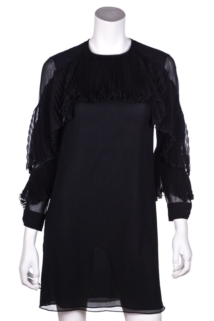 a598238f ... Gucci Black Pleated Chiffon Long Sleeve Dress Size XS [20% OFF] - OWN  ...