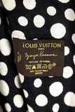 Louis Vuitton black and white Dots Infinity Yayoi Kusama wool and silk shawl - OWN THE COUTURE