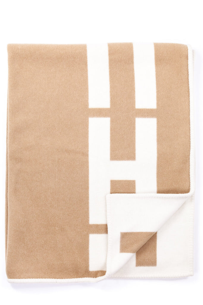hermès wool and cashmere monogram throw blanket own the couture