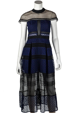 Prada Black Tiered Lace Sleeveless Dress Size M |  IT 44