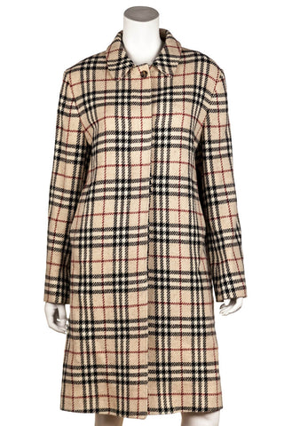 Chloe multicoloured check wool blend coat with tags Size XS | FR 36