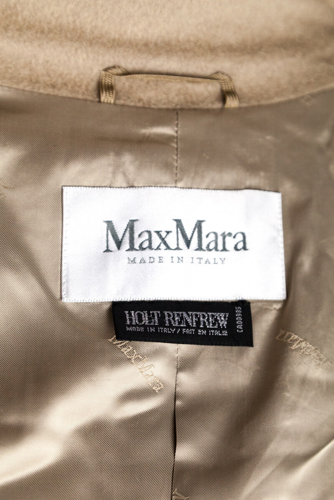 Max Mara beige wool cashmere blend double breasted coat M | DE 38 - OWN THE COUTURE