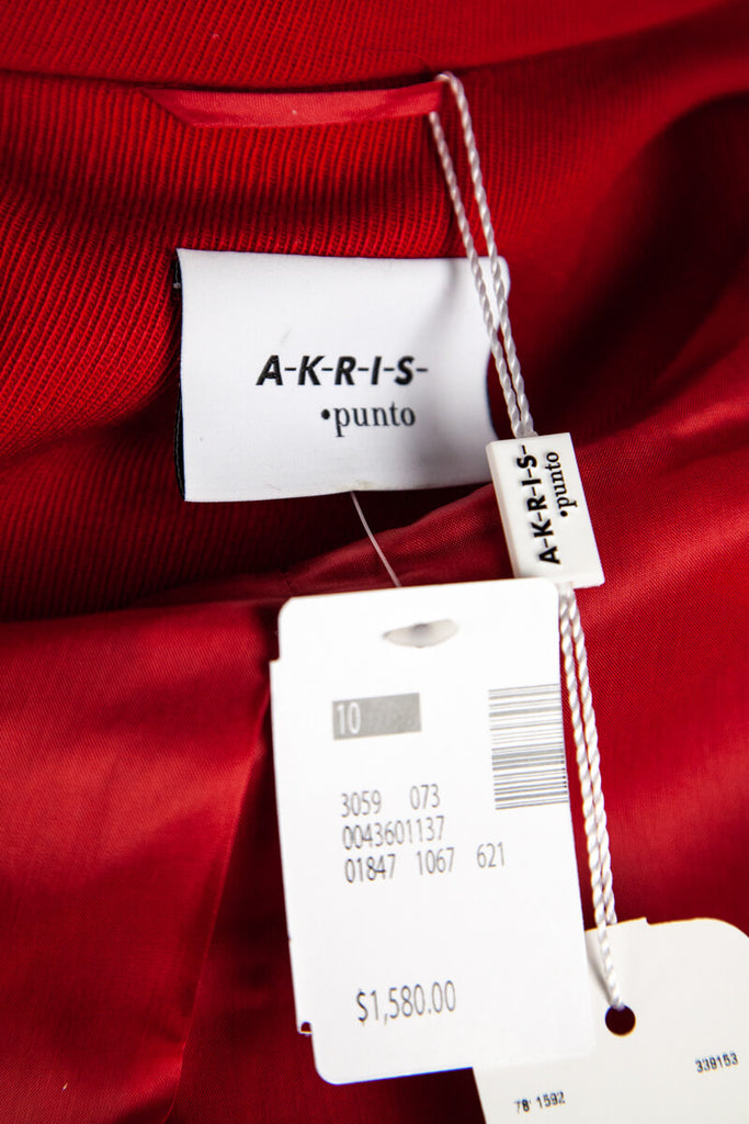 Akris Punto Red Wool Zip Coat New w/ Tags Size L | D 40 - OWN THE COUTURE