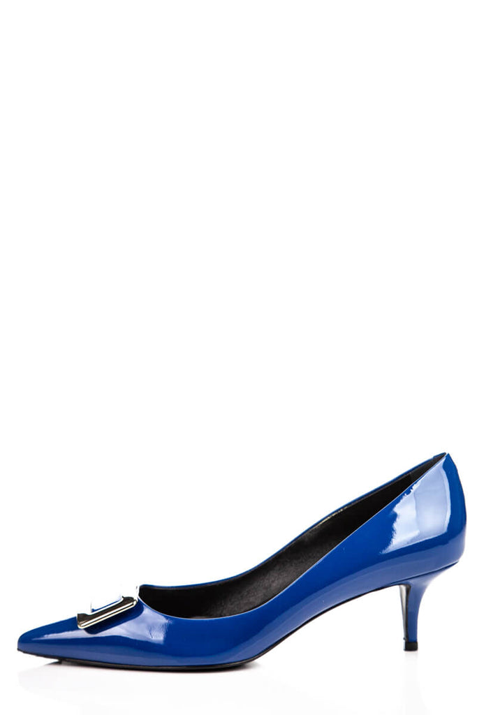Roger Vivier Blue Patent Leather Kitten Heels Size 8 | IT 38 - OWN THE COUTURE