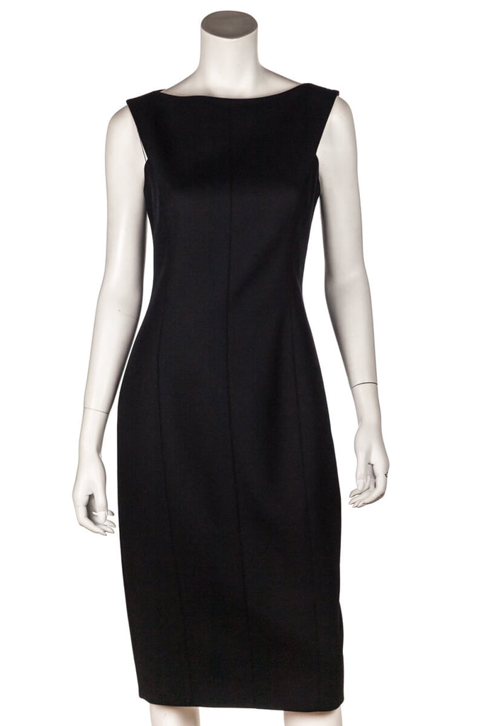 Jason Wu Black Wool Sleeveless Sheath Dress Size S | US 6 - OWN THE COUTURE