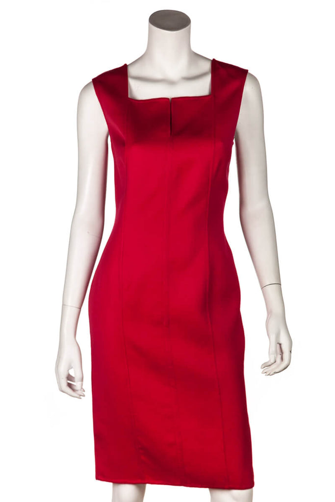 Carolina Herrera Red Sleeveless Sheath Dress Size S | US 6 - OWN THE COUTURE