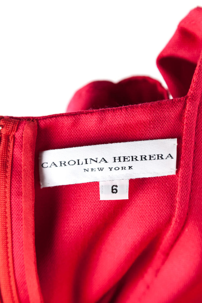 Carolina Herrera Red Sleeveless Sheath Dress Size S | US 6 [20% OFF] - OWN THE COUTURE