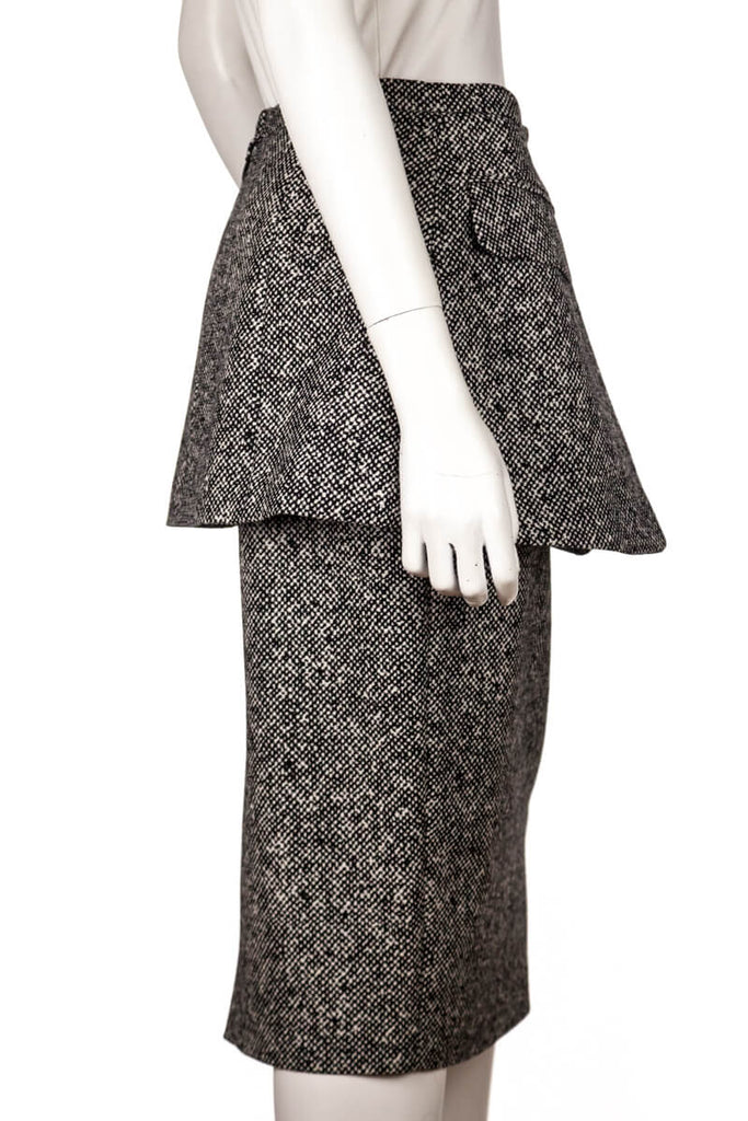 Michael Kors Black And White Tweed Skirt New W/Tags Size S | US 6 - OWN THE COUTURE