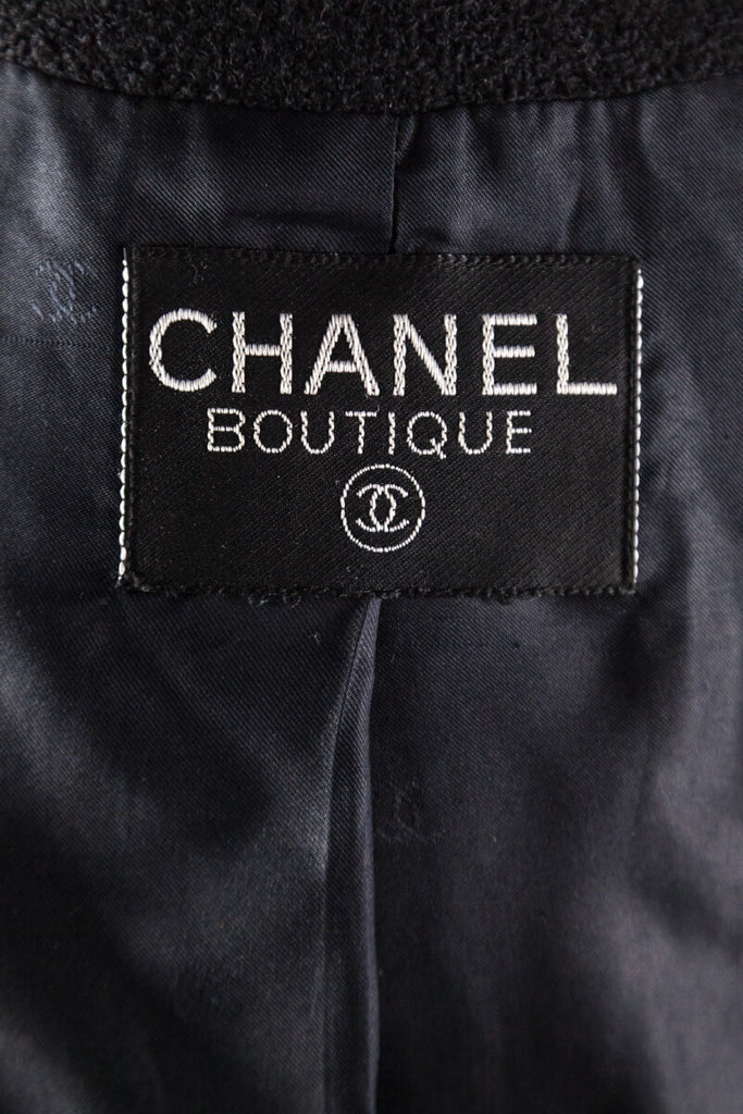 Chanel Black Boucle Single Breasted Blazer Size M | FR 40 [20% OFF] - OWN THE COUTURE